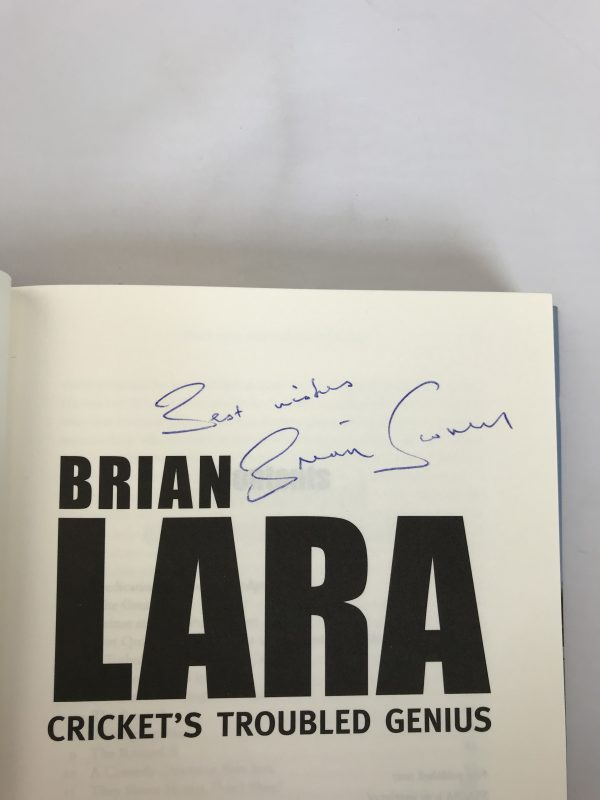 brian scovell brian lara signed first edition2