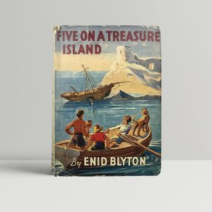 enid blyton five on a treasure island first edition1