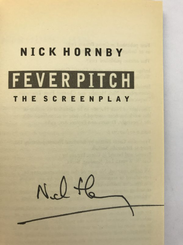 nick hornby fever pitch signed screenplay2