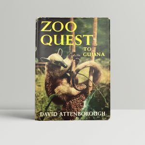 david attenborough zoo quest to guiana signed first edition1