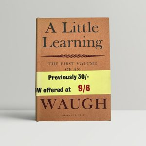 evelyn waugh a little learning first edition1