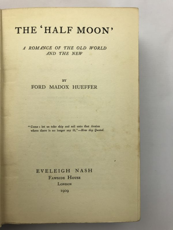 ford madox hueffer the half moon first edition2