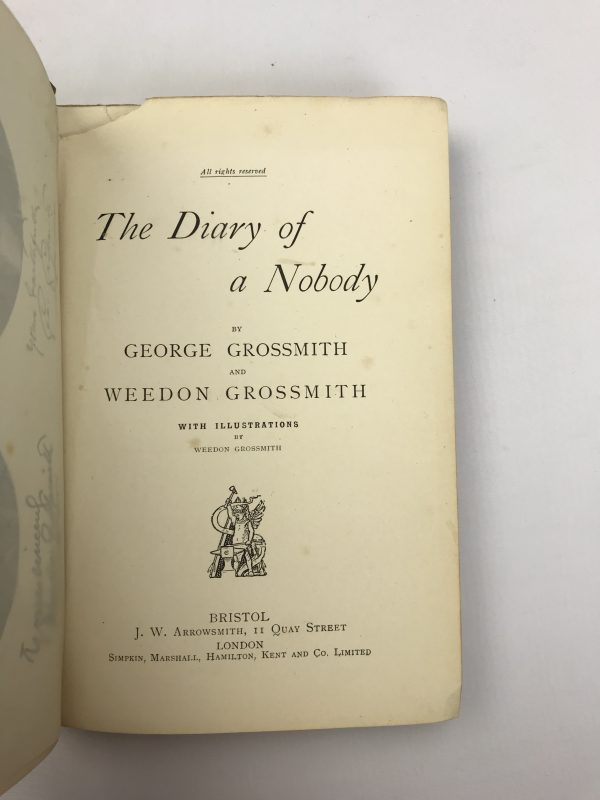 george and weedon grossmith diary of a nobody first edition2