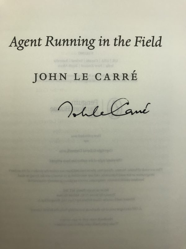john le carre agent running in the field signed first edition2