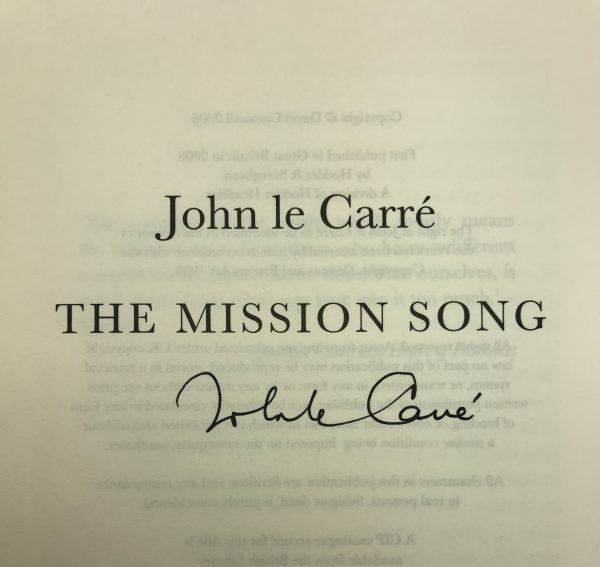 john le carre mission song signed first edition2