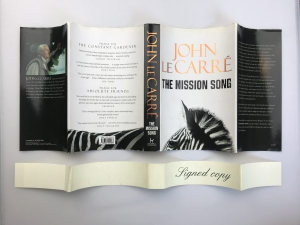 john le carre mission song signed first edition5