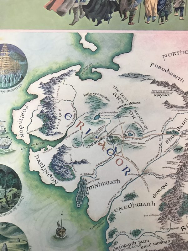 jrr tolkien map of middle earth5