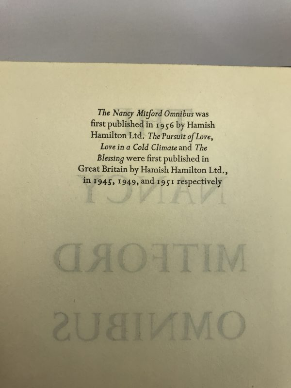 nancy mitford omnibus first edition2