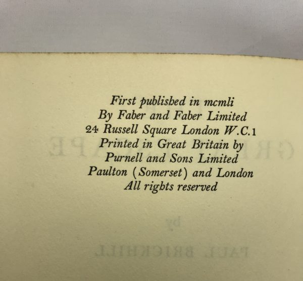 paul brickhill the great escape first edition2