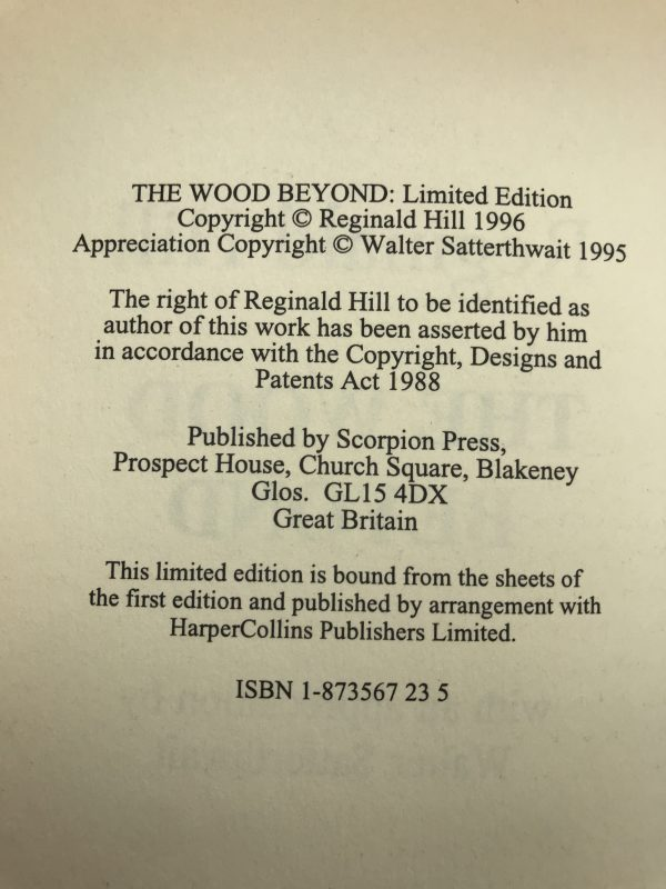 reginald hill the wood beyond signed first edition3