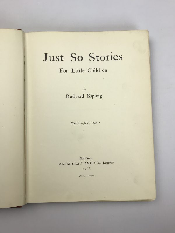 rudyard kipling just so stories first edition3