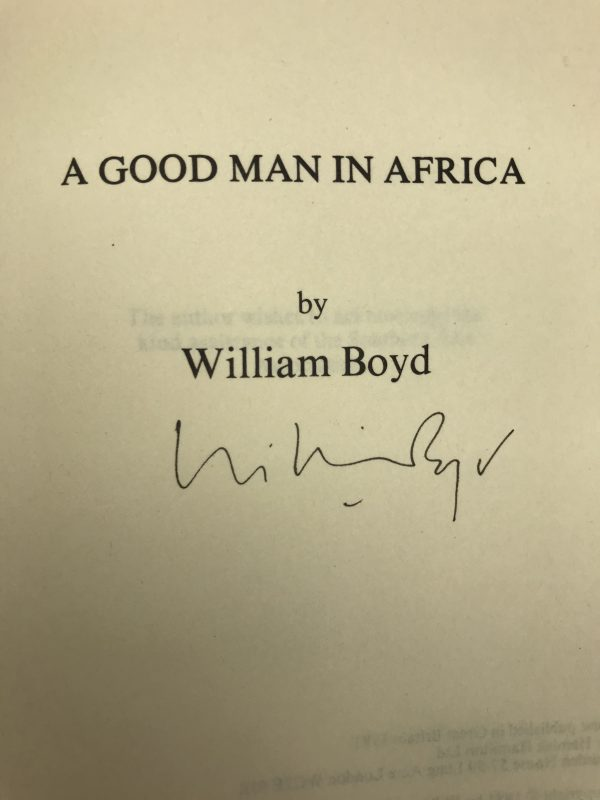 william boyd a good man in africa signed first edition2