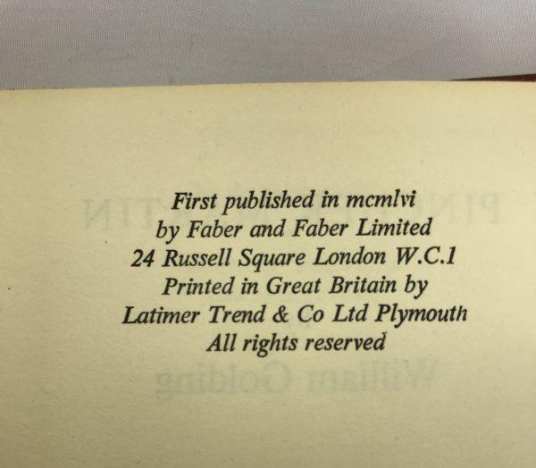 william golding pincher martin first edition2