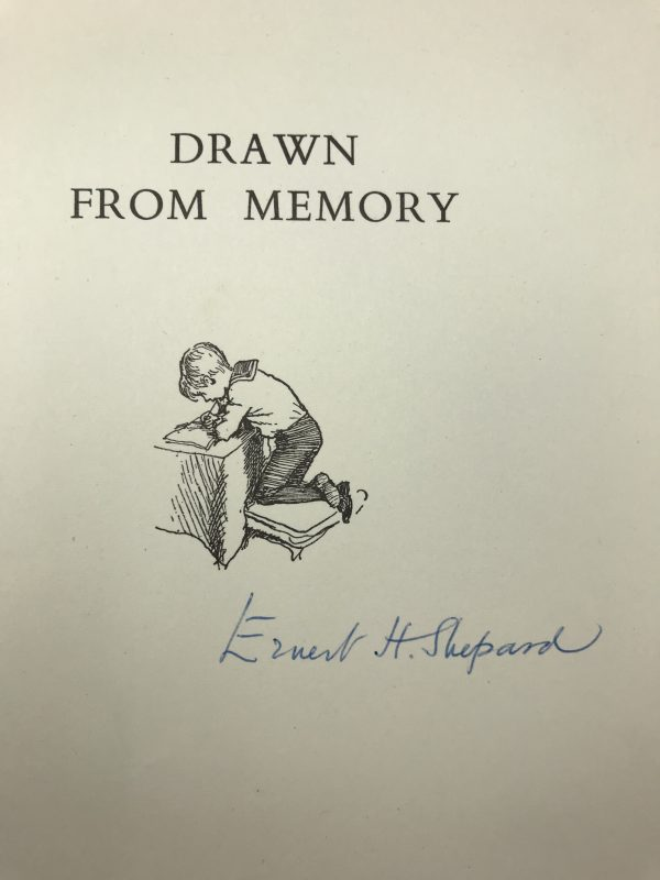ernest h shepard drawn from memory signed first edition2