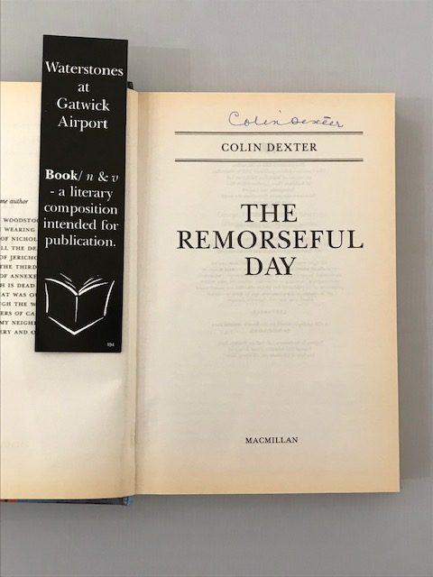 colin dexter the remorseful day signed first edition2