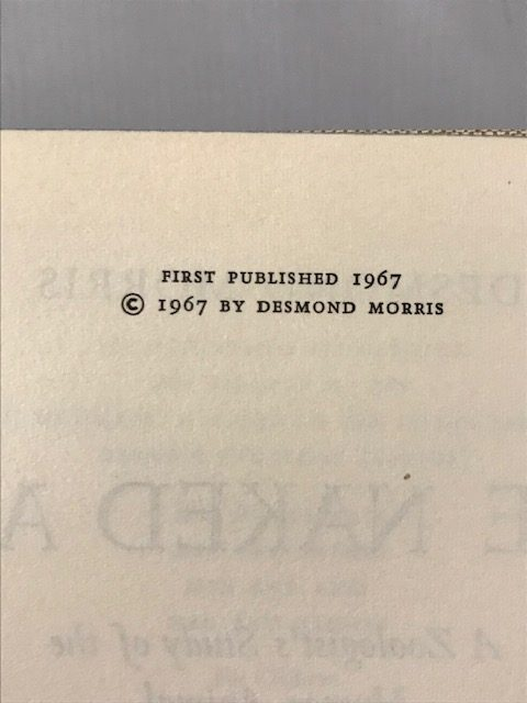 desmond morris the naked ape first edition2
