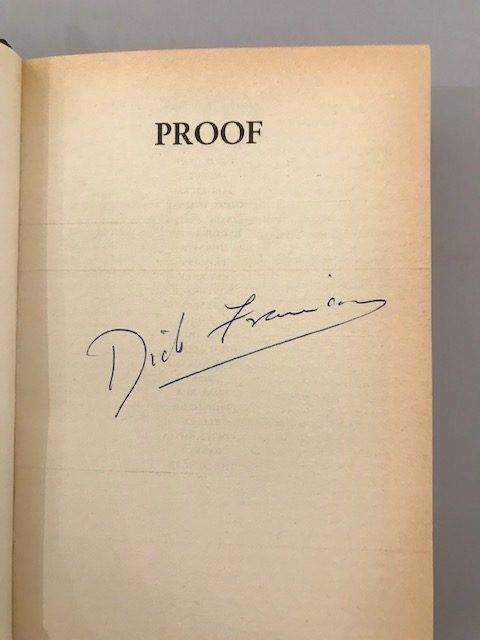 dick francis proof signed first edition2
