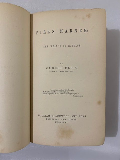 george eliot silas marner first edition3