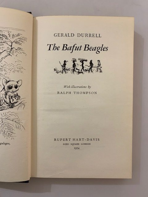 geral durrell the bafut beagles signed first edition3