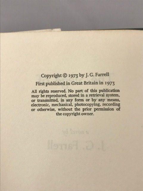 jg farrell the siege of krishnapur first edition2