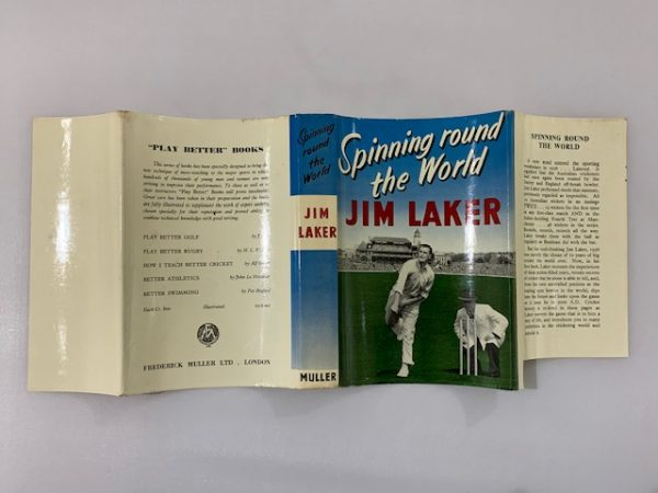 jim laker spinning round the world signed first edition5