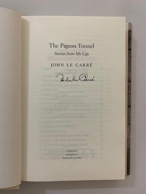 john le carre the pigeon tunnel signed first edition2