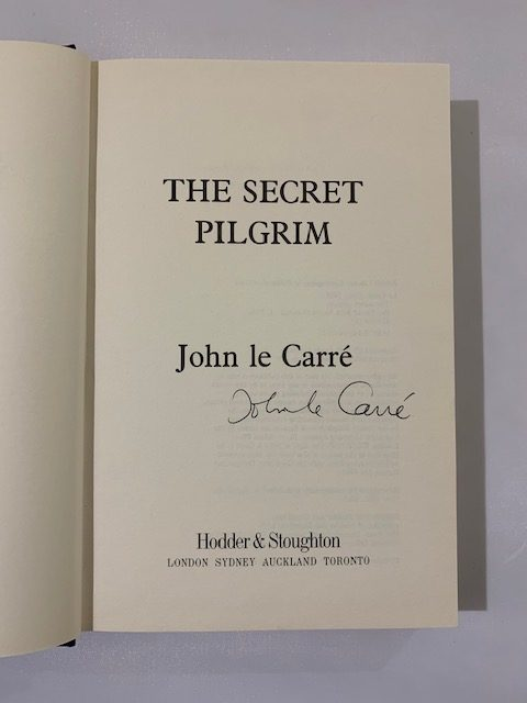 john le carre the secret pilgrim signed first edition2