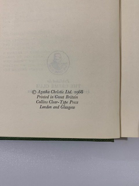 agatha christie by the pricking of my thumbs first ed2