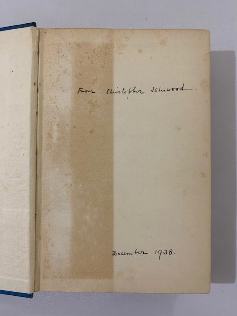 christopher isherwood lions and shadows signed first edition2