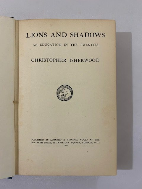 christopher isherwood lions and shadows signed first edition3