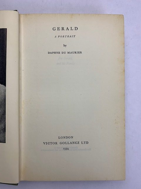 daphne du maurier gerald first edition with signed card2