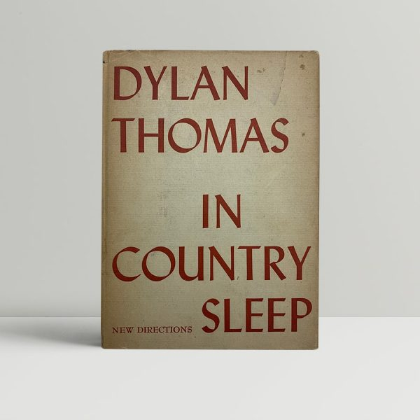 dylan thomas in country sleep first edition1