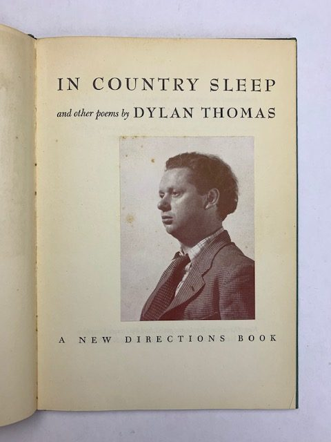 dylan thomas in country sleep first edition3