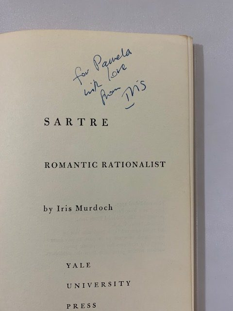 iris murdoch sartre signed us first edition2
