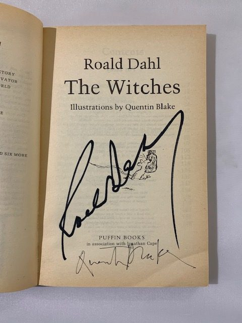 roald dahl the witches first edition double signed2