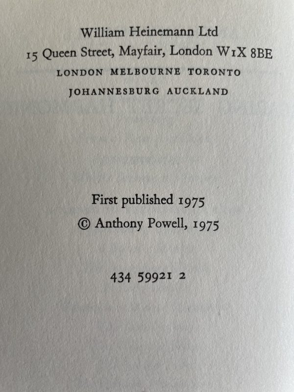 anthony powell hearing secret harmonies first edition2