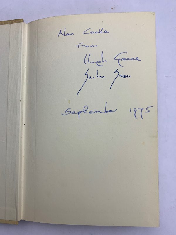 hugh greene graham greene the spys bedside book signed2