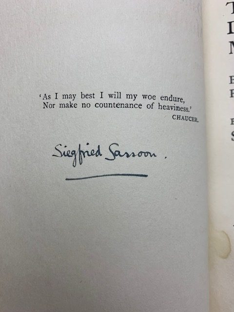 siegfried sassoon the daffodil murderer signed first edition2
