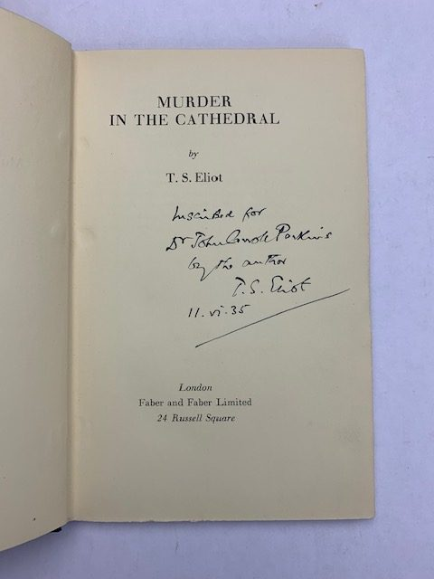 ts eliot muder in the catherdral signed first edition3