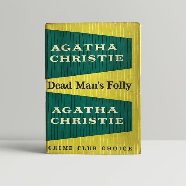 agatha christie dead mans folly first edition1