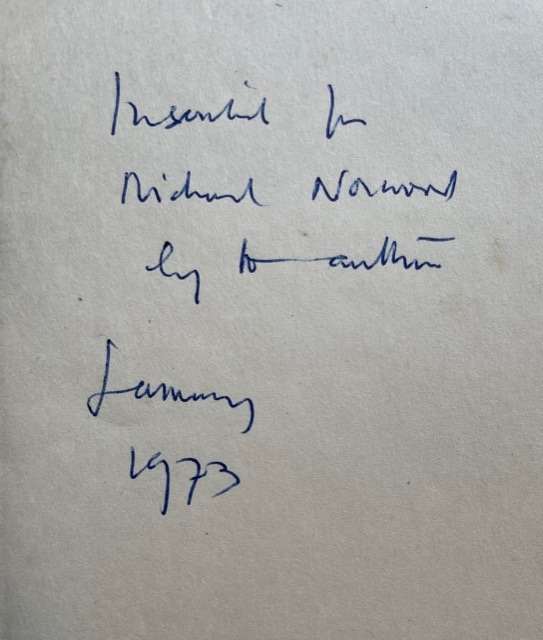 anthony powell at lady mollys signed first edition2