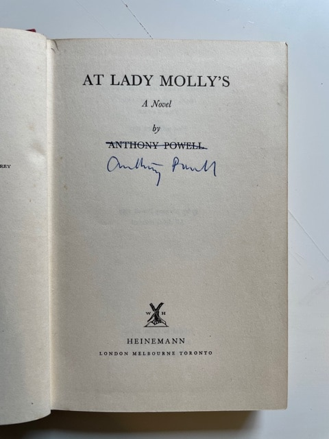 anthony powell at lady mollys signed first edition3