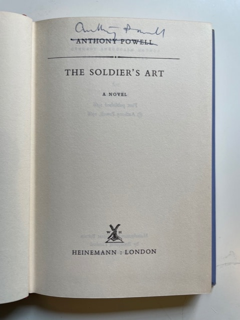 anthony powell the soldiers art signed first edition3