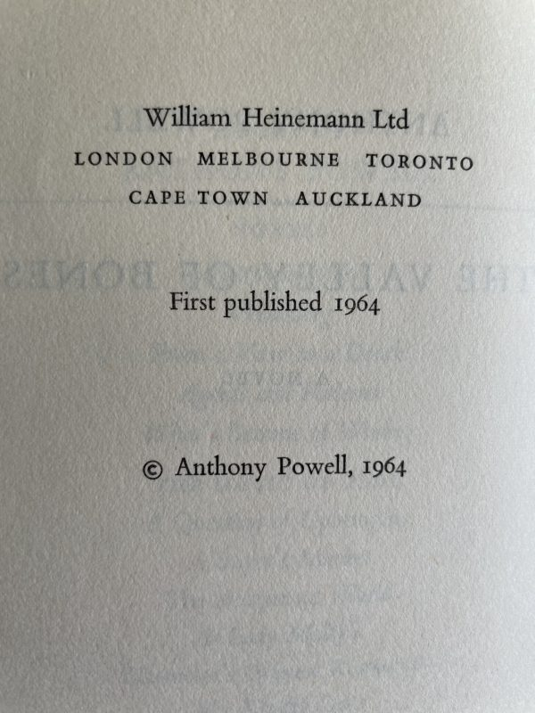 anthony powell the valley of bones first edition2