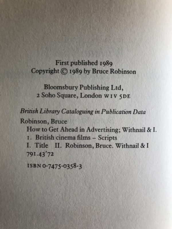 bruce robinson withnail and i first ed2