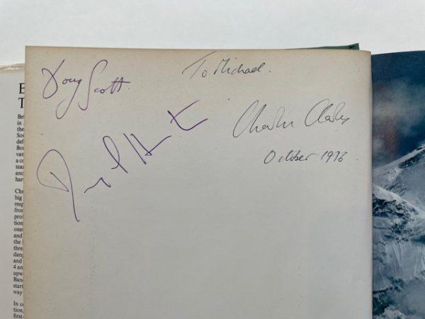 chris bonington everest the hard way multi signed2