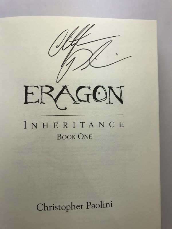 christopher paolini eragon first edition signed13
