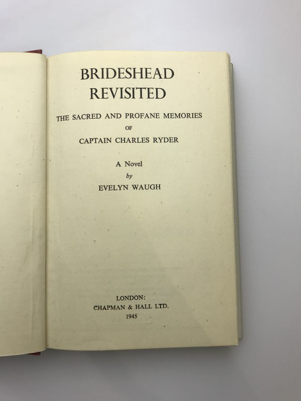 evelyn waugh brideshead revisited first edition2 1