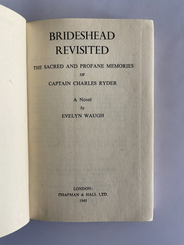 evelyn waugh brideshead revisited first edition2