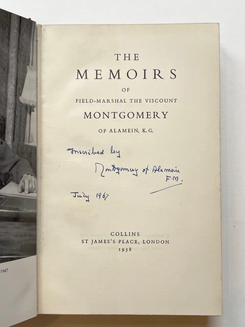 field marshall montgomery the memoirs signed2